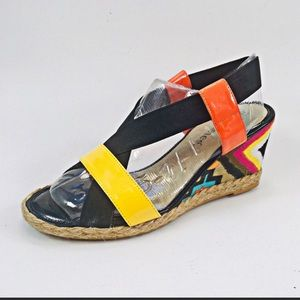 "J. Renee ""Halina"" Patent Leather Sandals Size 8.5"